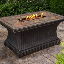 Rectangle Fire Pit Table Oakland Living Vienna Gas Firepit Table Deep Seating 7 Pc Chat