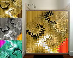 Brown And Gold Shower Curtains Beautiful Golden Brown Turquoise Gold Shower Curtain