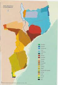 Mozambique Map Maruvu Linguistic Map Of Mozambique