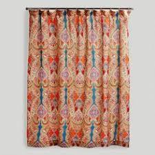 Tween Shower Curtains Aimee St Hill Paisley Orange Shower Curtain Boho Bohemian And House