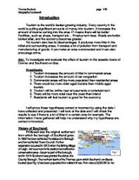 Gcse geography coursework essays          Related Geography documents