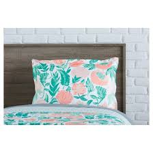Target Xhilaration Comforter Coral U0026 Emerald Painterly Floral Comforter Set Twin Twin Xl