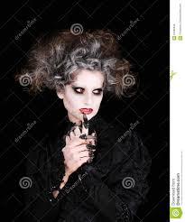 vampire woman portrait halloween concept stock photo image