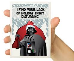 wars christmas card darth vader wars christmas card five dollar finds