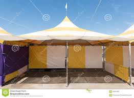 Striped Canopy by Yellow And White Striped Tent Outdoors Stock Photo Image 56367265