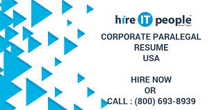 Corporate Paralegal Resume Sample by Corporate Paralegal Resume Hire It People We Get It Done