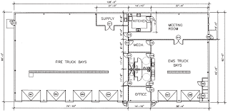 volunteer fire station floor plans floorplan gif