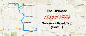 Nebraska State Map by The Ultimate Haunted Nebraska Road Trip Part 3