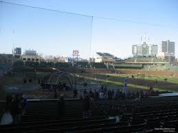 Chicago Cubs Seat Map by Wrigley Field Section 123 Chicago Cubs Rateyourseats Com