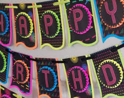 neon party supplies neon party etsy
