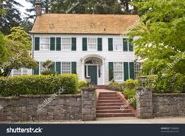 classic american wooden clapboard house stock photo colonial wood