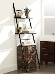 Bathroom Shelving Storage Bathroom Stunning Bathroom With Brown Rattan Storage And