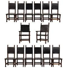 Set Of 14 Spanish Colonial Style Dining Chairs For Sale At 1stdibs