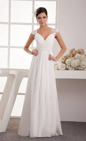 simple wedding gown wholesale and retail a line v neck ruched wedding dress the best