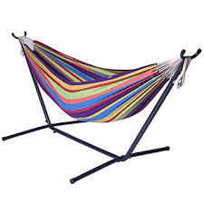 amazon com camping hammock with stand double hammock swing 2