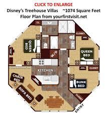 disney treehouse villas floor plan review the treehouse villas