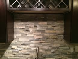 Slate Backsplash Kitchen Natural Stone Backsplash For Nature Concept Kitchen Home Design