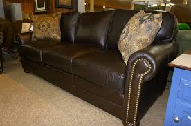 King Hickory  Leather Sofa Reed Furniture - Hickory leather sofa