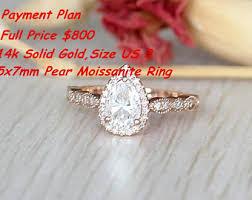 engagement ring payment plan morganite moissanite etsy