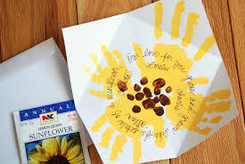 how to mother u0027s day sunflower handprint card