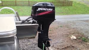 mercury 50 hp 2 stroke outboard engine youtube