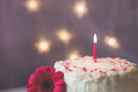 birthday candle flower free photo events flower delicious cake birthday candle food max pixel