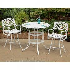 Tall Patio Set by Nifty Patio Wood Dining Tables With Clear Glass Countertops Also A