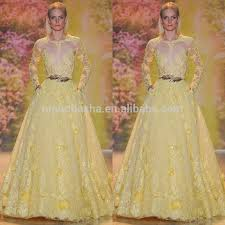 exquisite 2014 yellow ball gown wedding dress jewel neck long