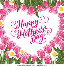 happy mothers day flowers butterflies vector stock vector