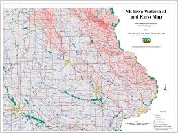 Iowa Map With Cities Karst Can Aid Rivers As Well As Streams The Gazette