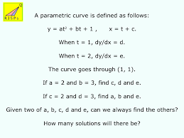 core 4 parametric equations 2