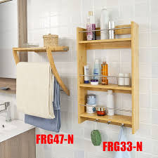 Fly Porte Serviette by Sobuy Frg47 N Wall Mounted Bamboo Towel Rack With 3 Rails And 1