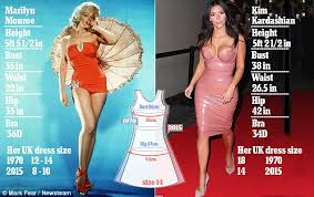 marilyn would wear size 8 today while would