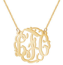 initials jewelry monogram necklace monogram initials personalized k party gold tone