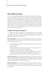 what does summary mean in a resume summary learning science in informal environments people page 6