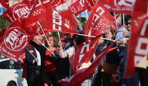 Huelga Flag Comisiones Obreras De Madrid