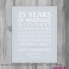 25 year anniversary gift 25 fancy gift ideas for 25 year wedding anniversary navokal