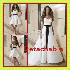 discount 2017 white black two piece detachable a line skirt black