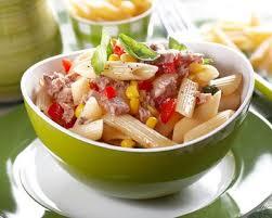 cuisine pates recette salade de pâtes au thon tomate et maïs facile rapide