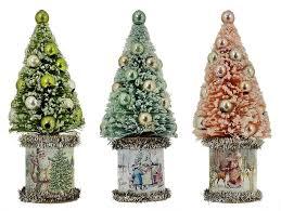 vintage christmas village trees traditions