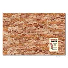 gift wrapping paper bacon gift wrap archie mcphee co