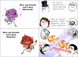 Foto Meme Comic - minecraft vs magicka rage comic by kazeskyfox on deviantart