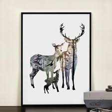 deer family silhouette luxuriant essentials
