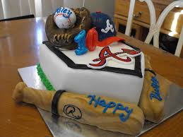 Decorative Cakes Atlanta Braves Birthday Cakes Home Plate Made From Cake The Rest Is