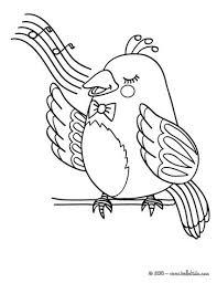 nightingale coloring nice bird coloring sheet original
