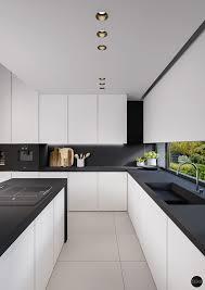 Small Black And White Kitchen Ideas Black And White Kitchens With A Splash Of Colour Black Kitchen