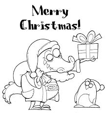 coloring pages animals cristmas santa claus crocodile coloring