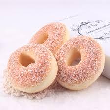 3 pcs pu donuts crafts decorations 10x9cm artificial bread