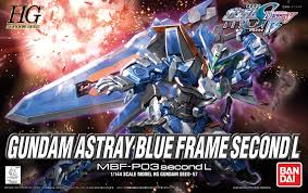 blue seed seed model kit 57 gundam astray blue frame second l high grade