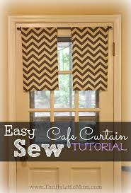 Cafe Curtain Pattern Easy Sew Kitchen Cafe Curtains Thrifty Little Mom